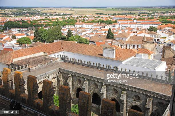 View of the town from the Cathedral, Historic Centre of Evora, UNESCO World Heritage Site, Alentejo, Portugal