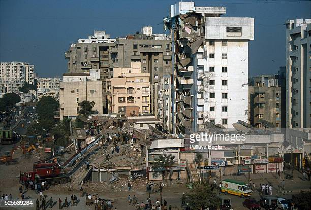 View of the town of Ahemdabad badly effected by the earthquake