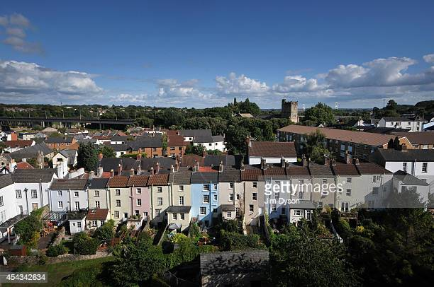A view of the town of Chepstow taken from Chepstow Castle on August 17 2014 in Chepstow Wales Construction on Chepstow Castle began in 1067 following...