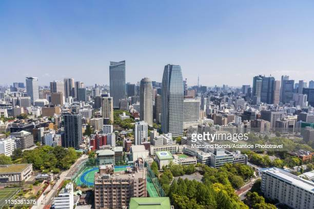 view of the town - kanto region stock pictures, royalty-free photos & images