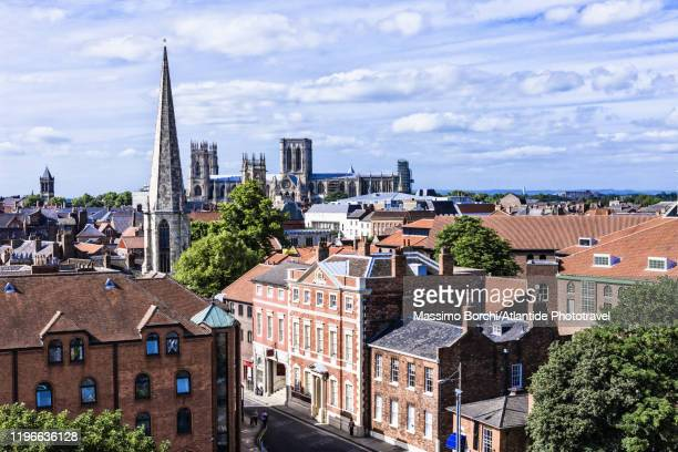 view of the town - york yorkshire stock pictures, royalty-free photos & images