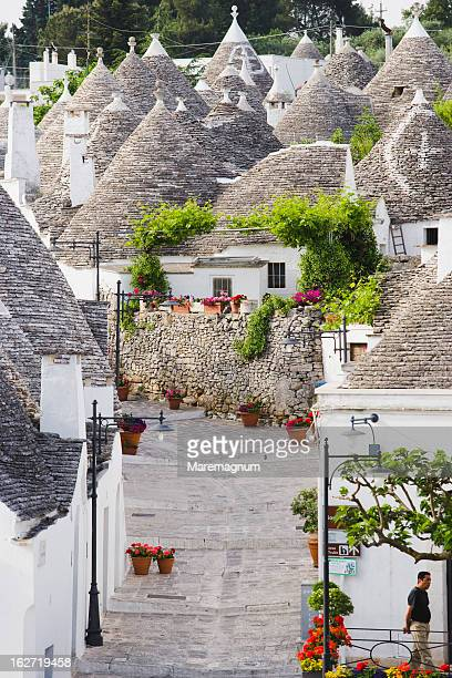 view of the town - trulli stock photos and pictures