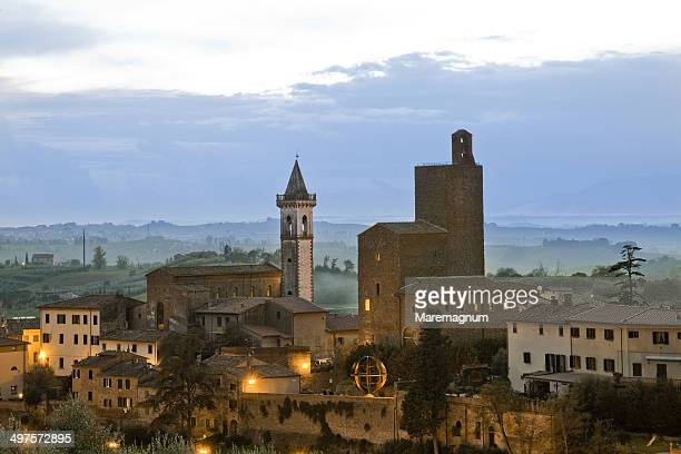 view of the town - leonardo da vinci stock-fotos und bilder