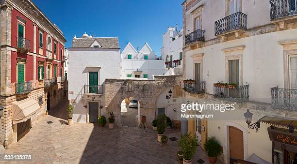 view of the town - locorotondo stock photos and pictures