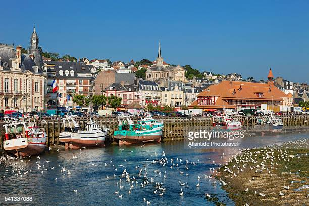 view of the town - trouville sur mer stock pictures, royalty-free photos & images