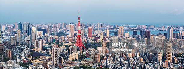 View of the town with the Tokyo Tower