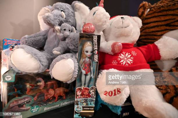 A view of the toys at Susanne Bartsch and David Barton's Toy Drive at TMPL West Village on December 14 2018 in New York City