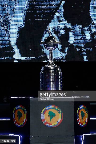 A view of the trophy during the Official Draw of the 56th Copa Bridgestone Libertadores at Conmebol Convention Center on December 2 2014 in Asuncion...