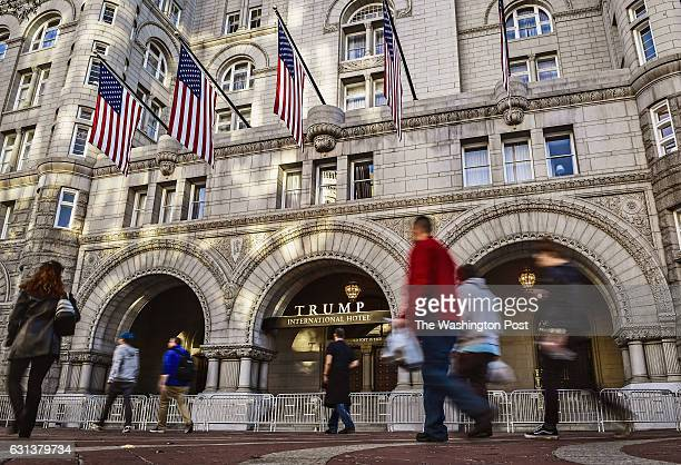 A view of the Trump hotel for our story on conflict of interest in the new Trump administration on November 2016 in Washington DC