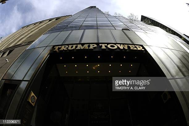 A view of the Trump Tower on 5th Avenue in New York on April 14 2011 AFP PHOTO / TIMOTHY A CLARY