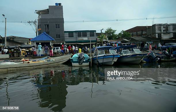 View of the Turbo municipality Antioquia department Colombia on June 15 2016 More tan 500 Cuban migrants are in the country after Panama closed the...