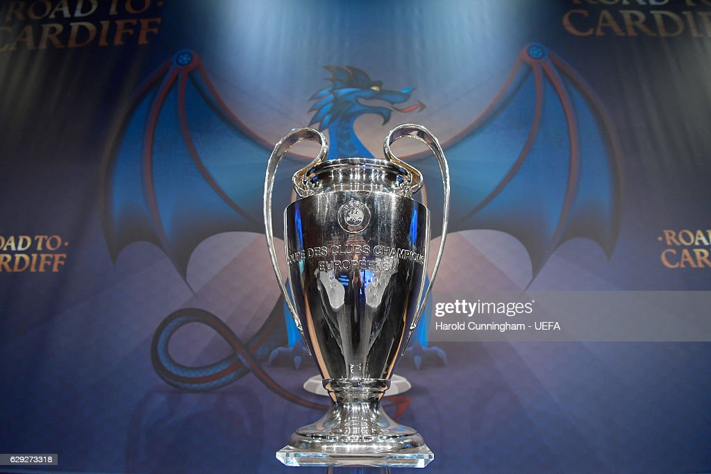 A View Of The UEFA Champions League Trophy Ahead 2016