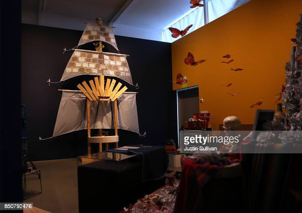 """View of the unfinished """"Ghost Ship"""" art installation at the Oakland Museum of California on September 21, 2017 in Oakland, California. Local artists..."""