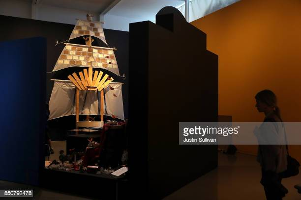 A view of the unfinished Ghost Ship art installation at the Oakland Museum of California on September 21 2017 in Oakland California Local artists...