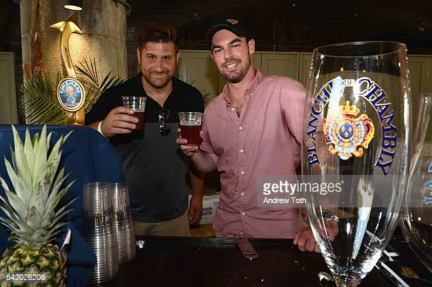 A view of the Unibroue Beer bar at The 7th Annual Saveur Summer Cookout at Boat Basin Cafe on June 21 2016 in New York City