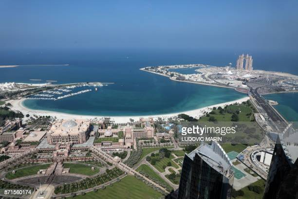 A view of the United Arab Emirate of Abu Dhabi on November 8 2017 More than a decade in the making the Louvre Abu Dhabi opens its doors today...