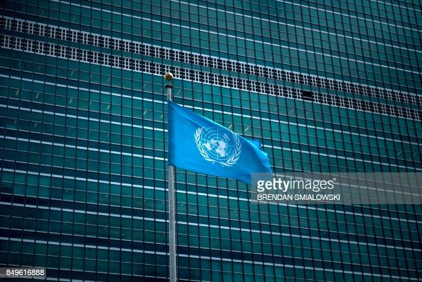 View of the United Nations headquarters during the 72nd session of the United Nations General Assembly September 19, 2017 in New York.