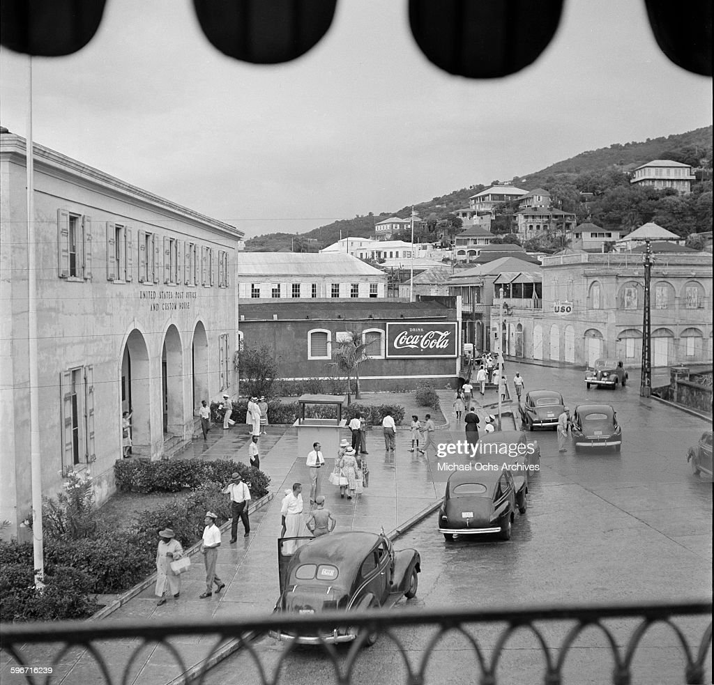 A view of the United States postal office and customs house ...