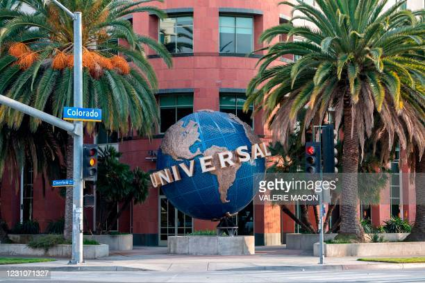 View of the Universal Music Group headquarters is seen on February 9, 2021 in Santa Monica, California. - UMG and TikTok announced on February 8,...
