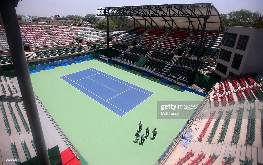 A view of the upgraded R.K. Khanna Tennis Complex, a venue for the Delhi 2010 Commonwealth Games, in New Delhi on May 22, 2010.