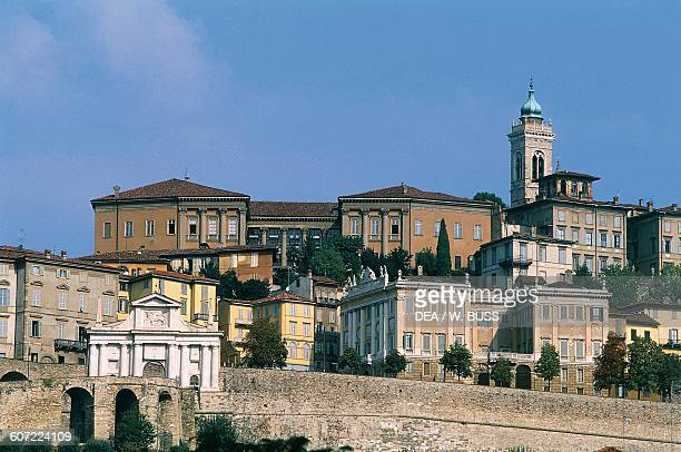View of the Upper Town Bergamo Lombardy Italy