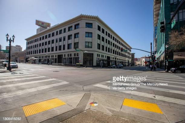 View of the Uptown Station building at the corner of Broadway and 20th Street in Oakland, Calif., on Wednesday, March 4, 2021. The Uptown Station...