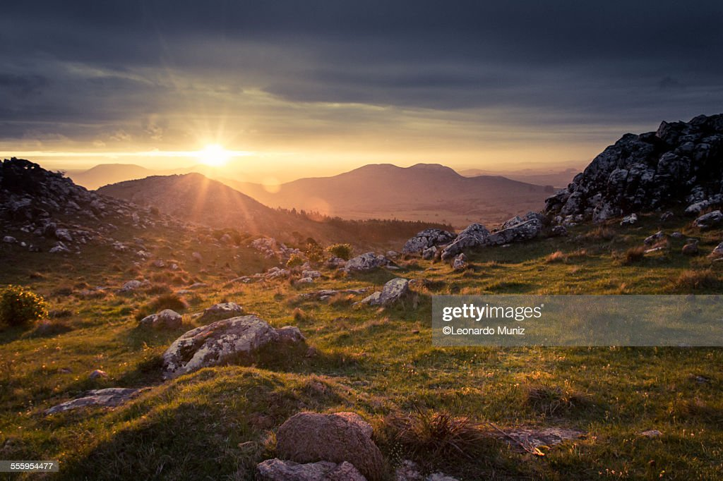 View of the Uruguayan countryside in Minas. : Stock Photo