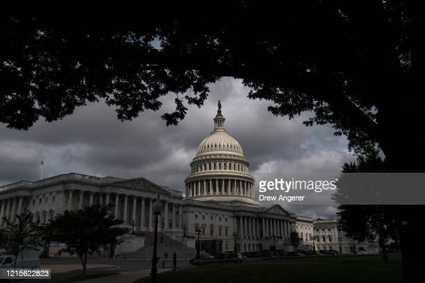 View of the U.S. Capitol before a news conference with House Republican members, May 27, 2020 in Washington, DC. Calling it unconstitutional,...