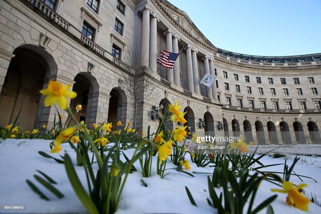 President Trump's Budget Calls For Major Cuts To EPA : News Photo