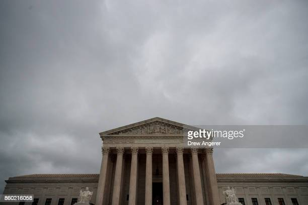 A view of the US Supreme Court October 11 2017 in Washington DC On Tuesday the US Supreme Court dismissed one of two cases challenging the Trump...