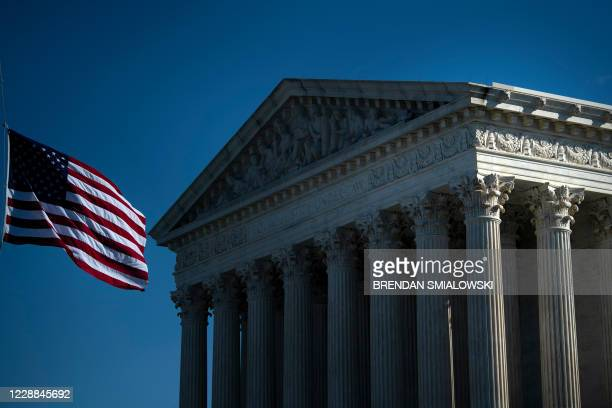View of the US Supreme Court October 2 in Washington, DC. - Supreme Court nominee Amy Coney Barrett, who was with President Donald Trump last...