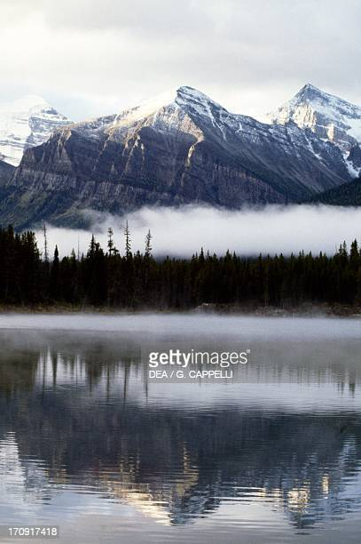 View of the Valley of the Ten Peaks , Banff National Park , Rocky Mountains, Alberta, Canada.