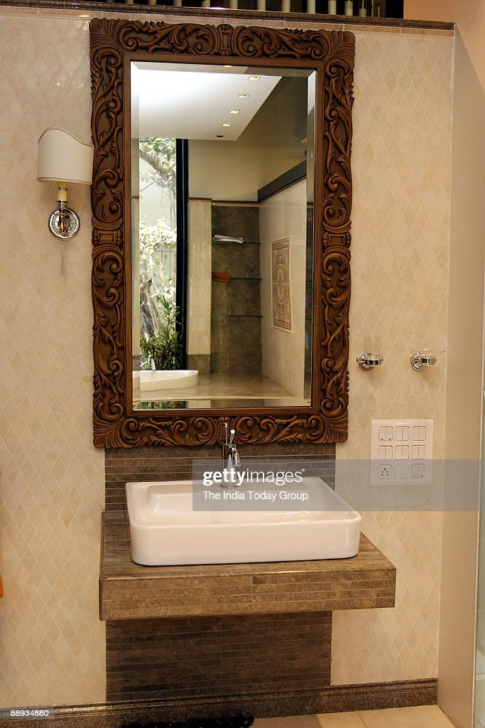 View Of The Vanity Fare Versace Bathroom Accessories In Mumbai News Photo Getty Images