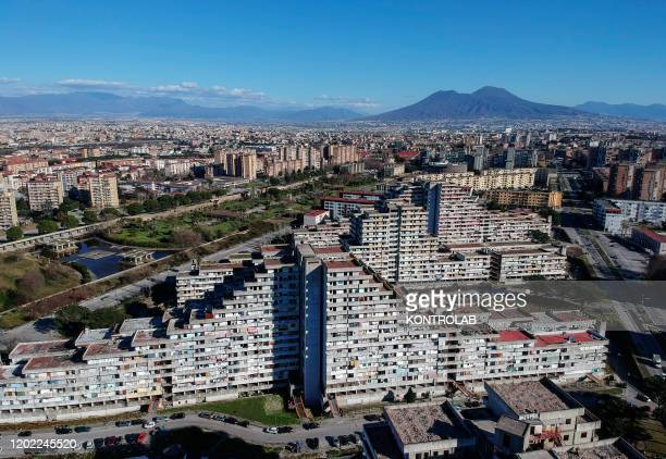 A view of the Vele building in the Scampia area in the suburb of Naples The northern Neapolitan suburb of Scampia is notorious for its drug wars clan...