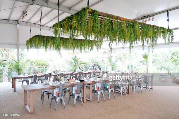 A view of the venue as JNSQ Serves Its Rosé Cru And Sauvignon Blanc At The Miami Swim Week Influencer Brunch Hosted By Natasha Oakley And Devin...