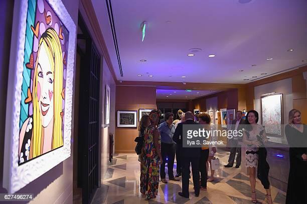 A view of the venue at Underwater Dreams To Life In Color Art Exhibit Featuring Antonio Dominguez De Haro And Romero Britto At Four Seasons Hotel...