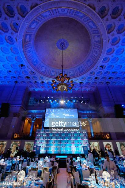 A view of the venue before guests arrive at the 13th Annual UNICEF Snowflake Ball 2017 at Cipriani Wall Street on November 28 2017 in New York City