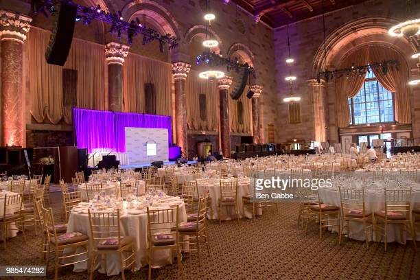 A view of the venue before guests arrive at The Gracies presented by the Alliance for Women in Media Foundation at Cipriani 42nd Street on June 27...