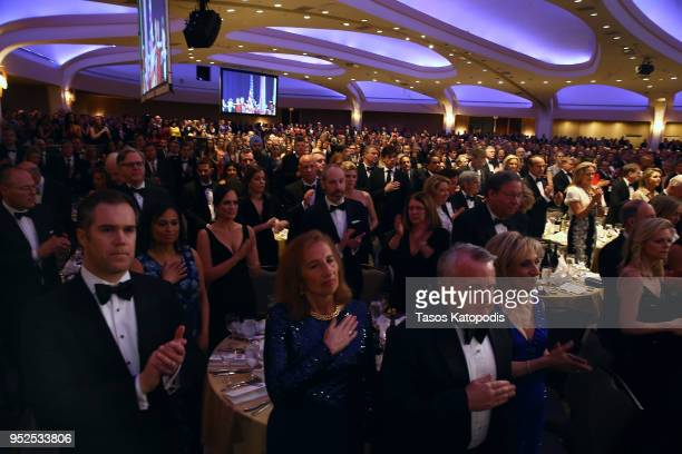A view of the venue during the 2018 White House Correspondents' Dinner at Washington Hilton on April 28 2018 in Washington DC