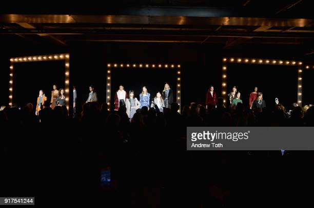A view of the venue during the Veronica Beard Fall 2018 presentation at Highline Stages on February 12 2018 in New York City