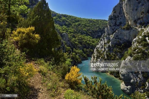 View of the Verdon Gorges, Provence-Alpes-Cote d'Azur, France.