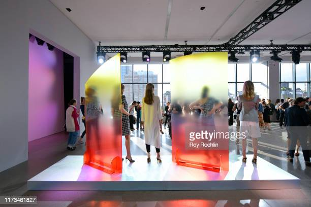 View of the Veronica Beard Presentation in Gallery II at Spring Studios during New York Fashion Week: The Shows on September 09, 2019 in New York...