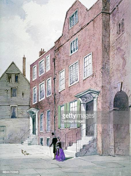 View of the Vicar General's Office Bell Yard Knightrider Street City of London 1841
