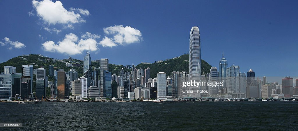 A view of the Victoria Harbour is seen on July 24, 2008 in Hong Kong, China. Hong Kong will host the Beijing 2008 Olympic Equestrian events.