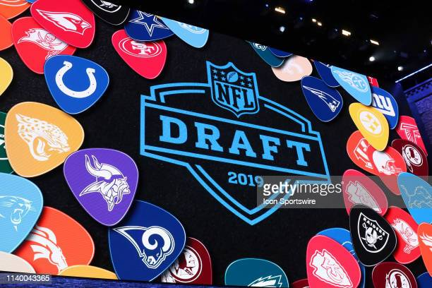A view of the video board during the first round of the 2019 NFL Draft on April 25 at the Draft Main Stage on Lower Broadway in downtown Nashville TN