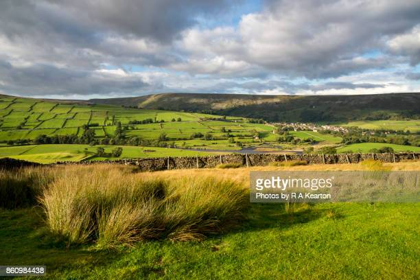 View of the village of Reeth in Swaledale, Yorkshire Dales, England.