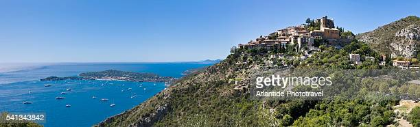 view of the village - alpes maritimes stock pictures, royalty-free photos & images