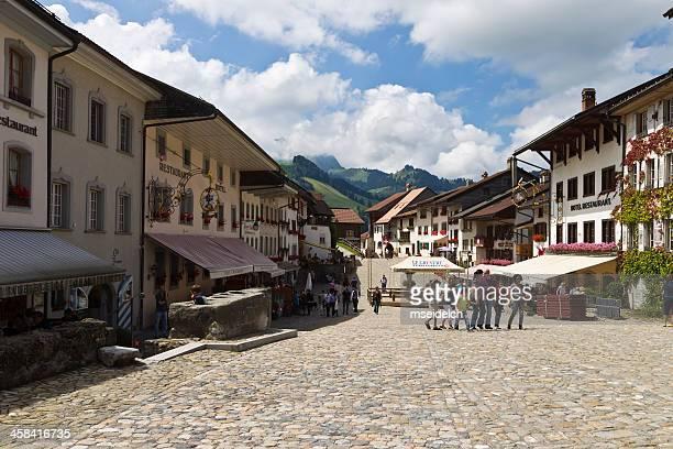 "View of the village ""Gruyeres"" in Switzerland"