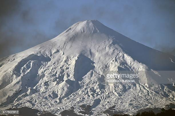 View of the Villarrica volcano near Villarrica 1200 km from Santiago in southern Chile on June 17 2015 AFP PHOTO / RODRIGO BUENDIA