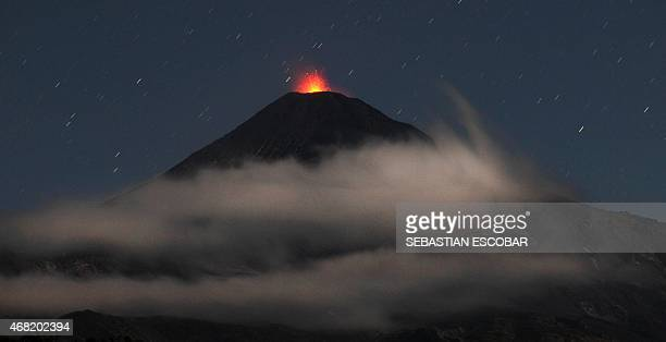 View of the Villarrica volcano some 800 km south of Santiago showing visible signs of activity on March 31 2015 Earlier this month in its first major...